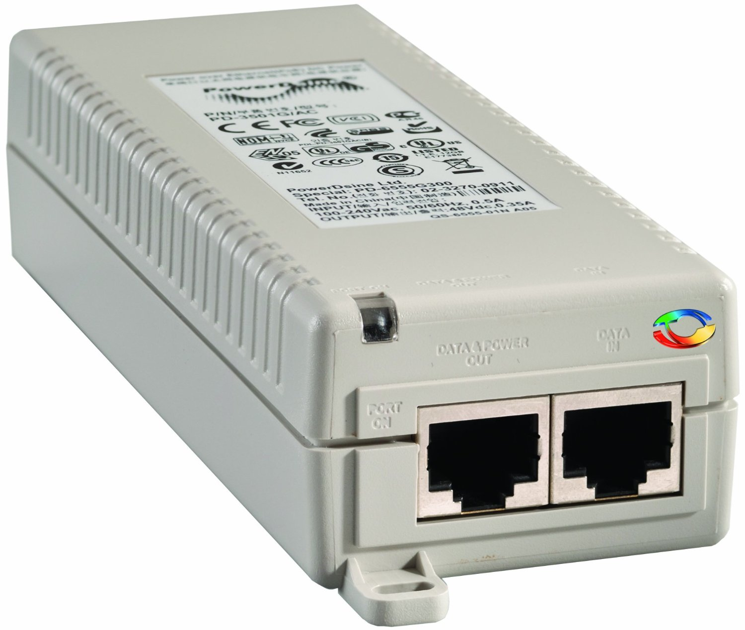 1 Port POE Switch to send Power to the HD IP Camera