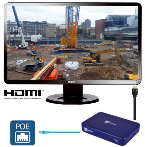 Thin Client to Display a 1080p Live View of the Job-Site on a HD Monitor