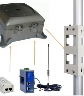 Image of te 3g time lapse router on a pole
